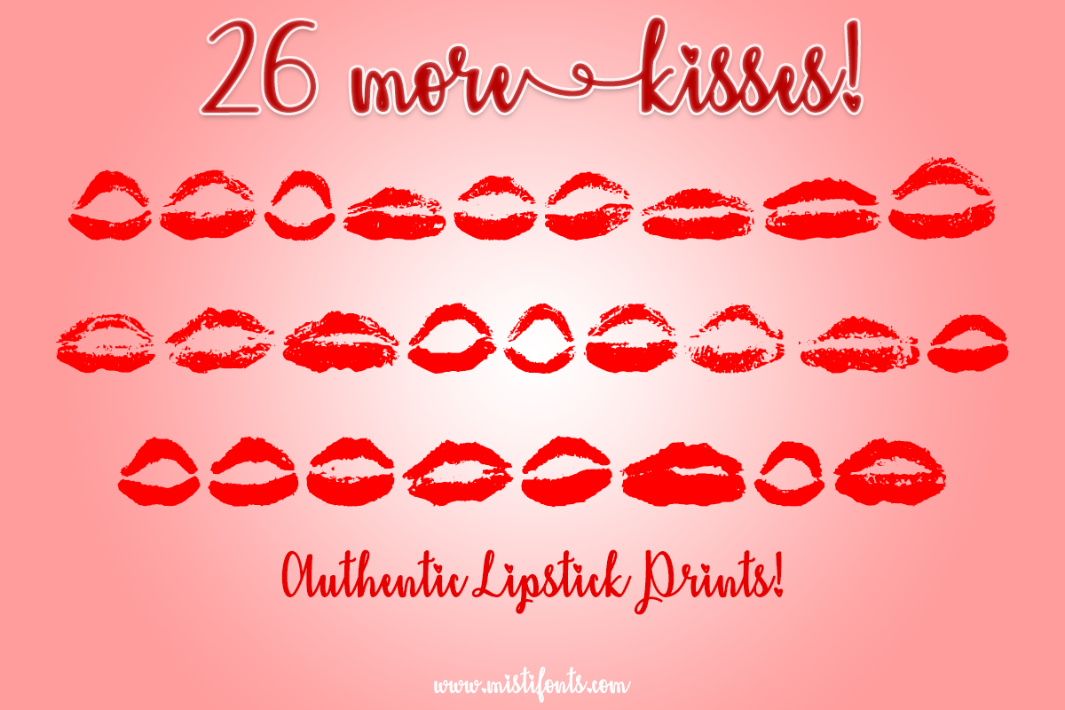 26 More Kisses by Misti's Fonts.