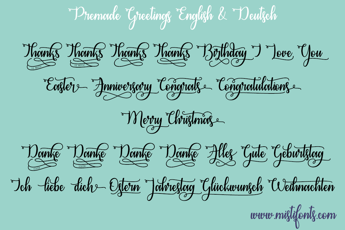 Congrats Calligraphy by Misti's Fonts