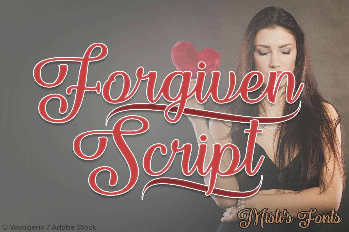 Forgiven Script by Misti's Fonts. Image credit: © Voyagerix / Adobe Stock