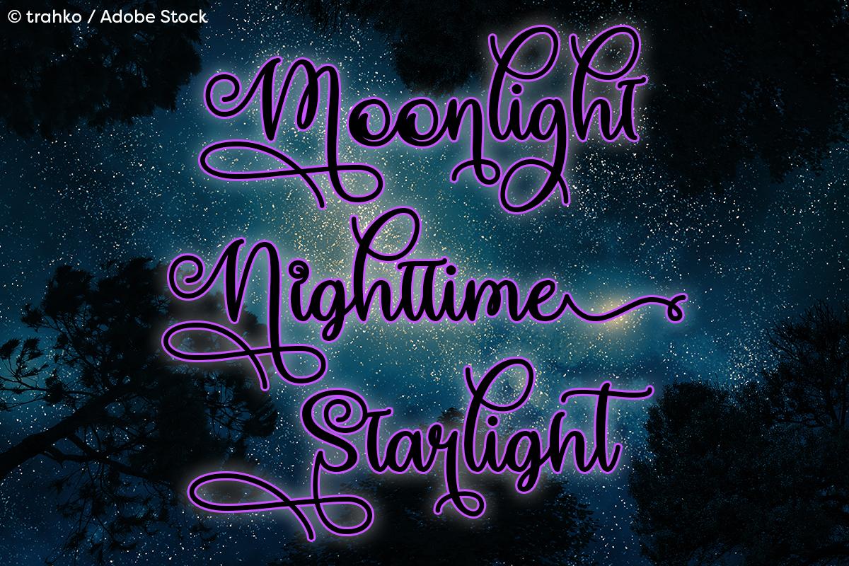 Make Magic Happen by Misti's Fonts. Image credit: © trahko / Adobe Stock