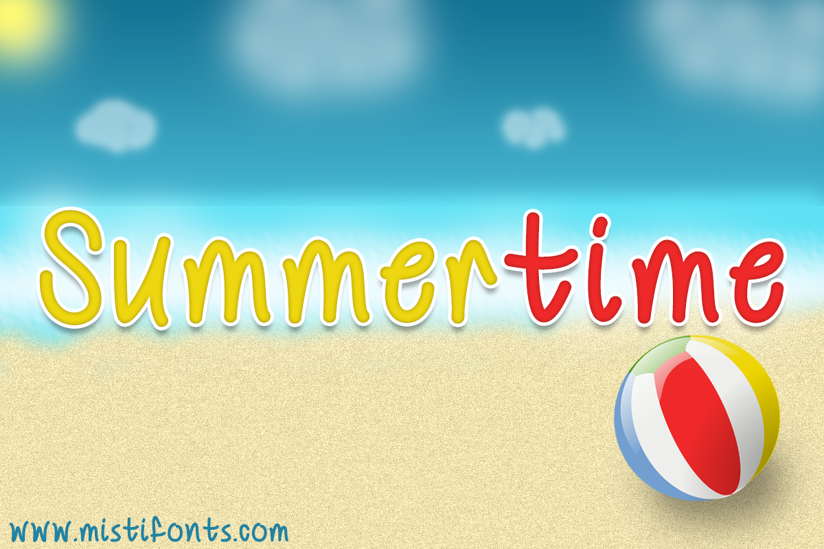 Mf Summertime by Misti's Fonts.