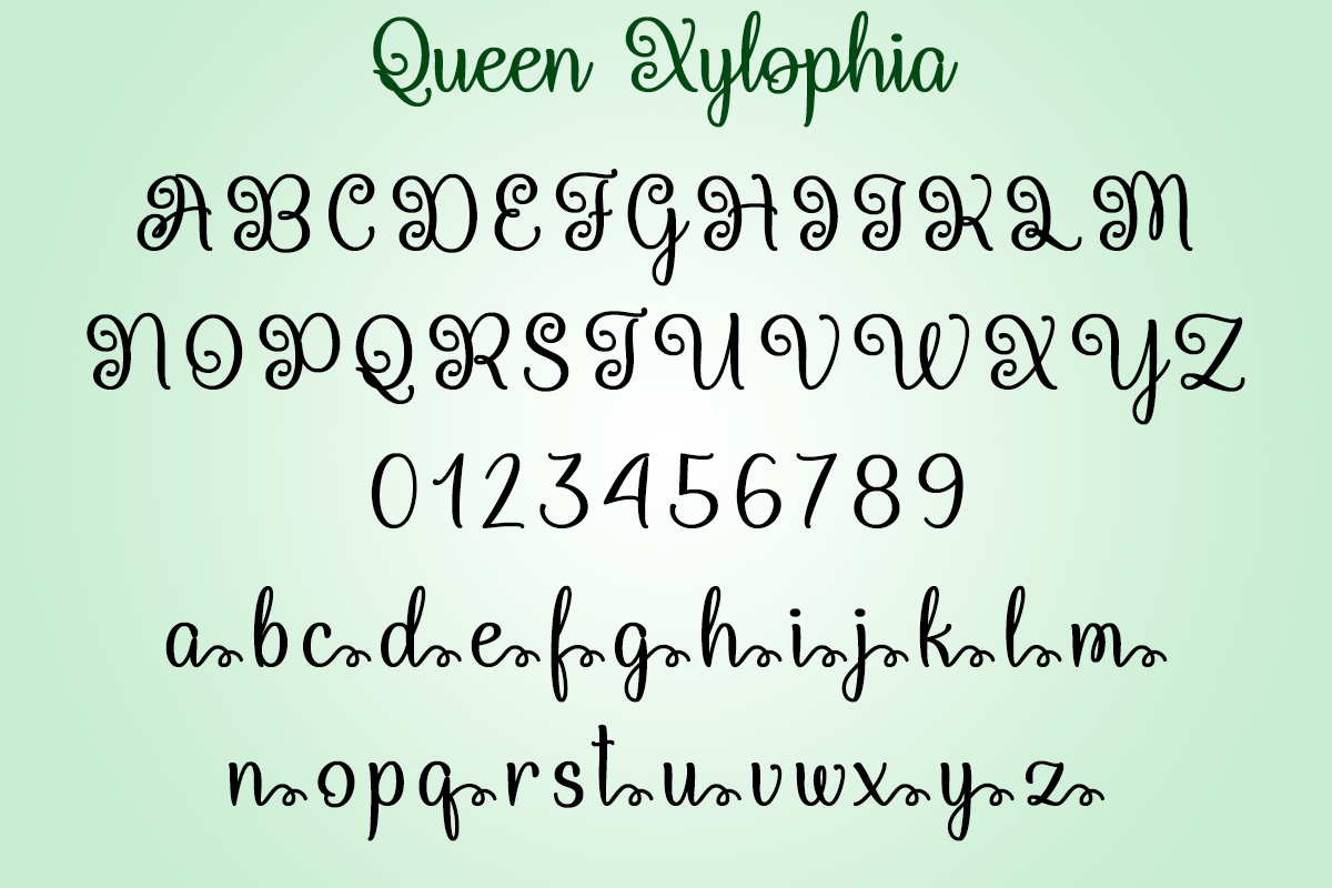 Queen Xylophia by Misti's Fonts.