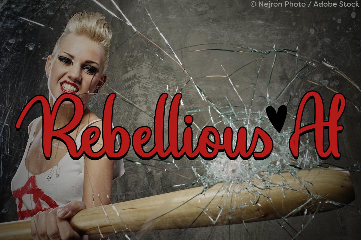 Rebellious Af by Misti's Fonts. Image credit: © Nejron Photo / Adobe Stock