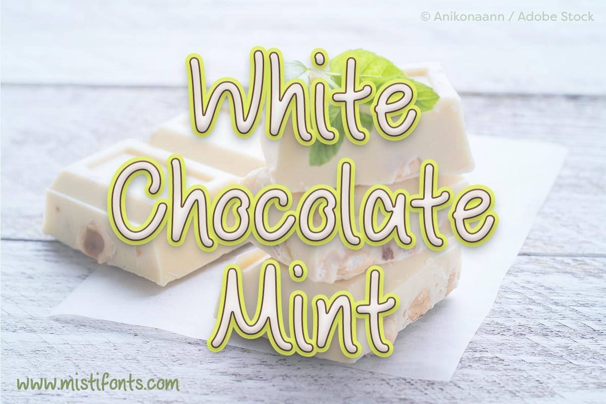 White Chocolate Mint by Misti's Fonts. Image Credit: © Anikonaann / Adobe Stock