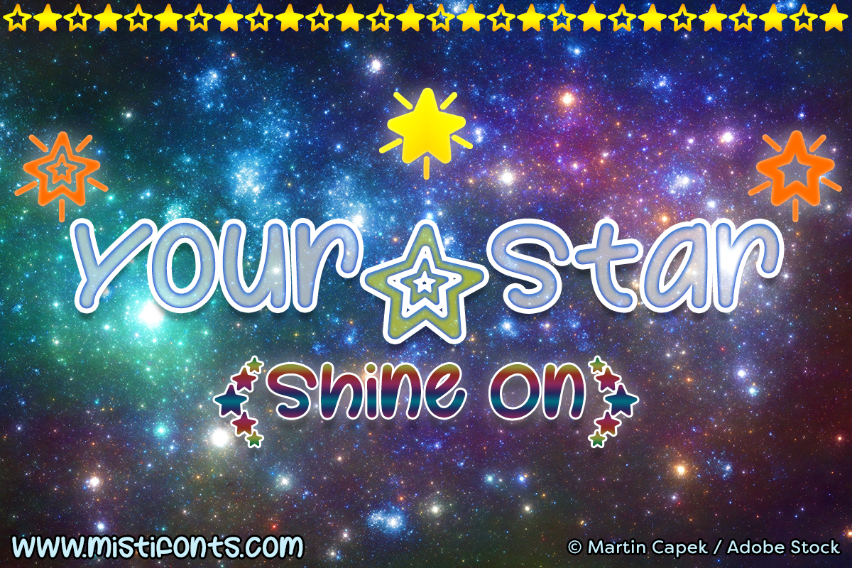 Your Star by Misti's Fonts. Image credit: © Martin Capek / Adobe Stock